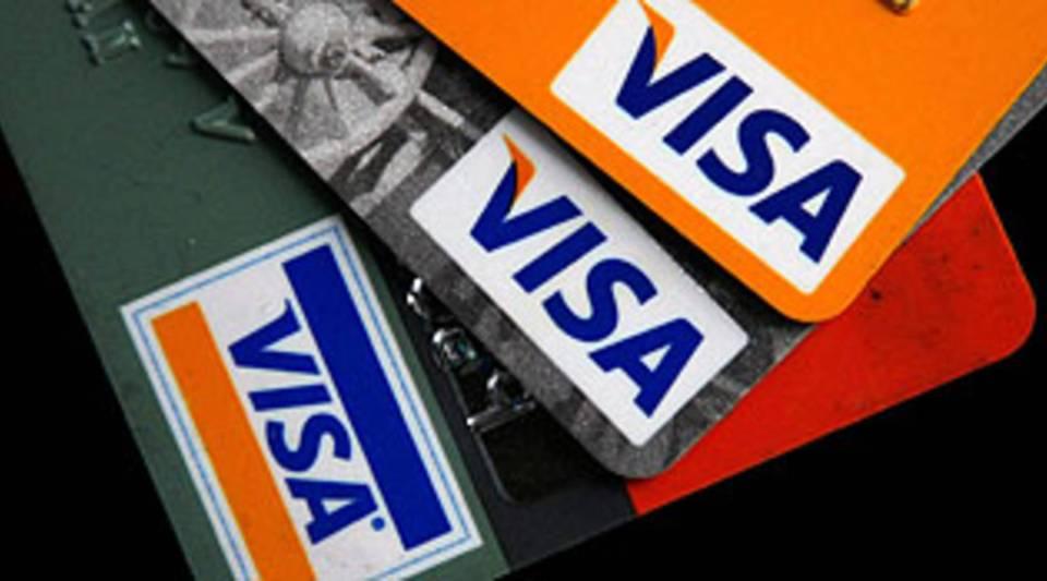 Visa credit cards.