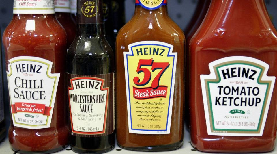 H.J. Heinz Co. products are displayed at a grocery store June 12, 2003 in Chicago, Ill