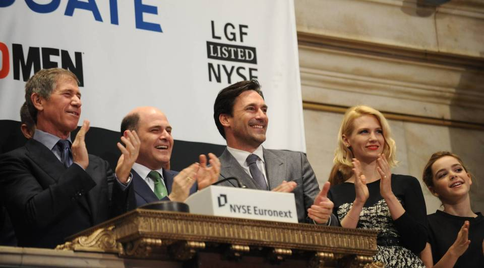 """""""Mad Men"""" returns for a fifth season Sunday. But who are the Don Drapers in today's advertising industry and how has Madison Avenue changed? Here, the cast of the show ring the opening bell of the New York Stock Exchange March 21, 2012."""