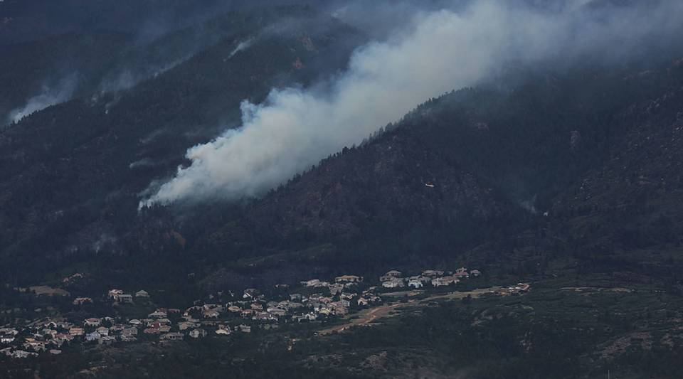 Part of the Waldo Canyon fire is viewed on in Colorado Springs, Colo.