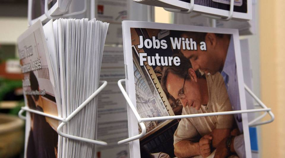 """Employment pamphlets. Author DW Gibson on what he learned traveling across the country talking with the unemployed for his new book, """"Not Working,"""" and one of the book's subjects, Bridgette Lacy, discusses what it's like to be jobless."""