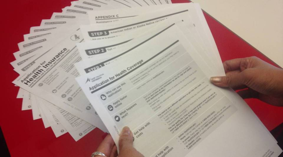 The application form to apply for Obama's Health Care plan went from 21 pages to 3.