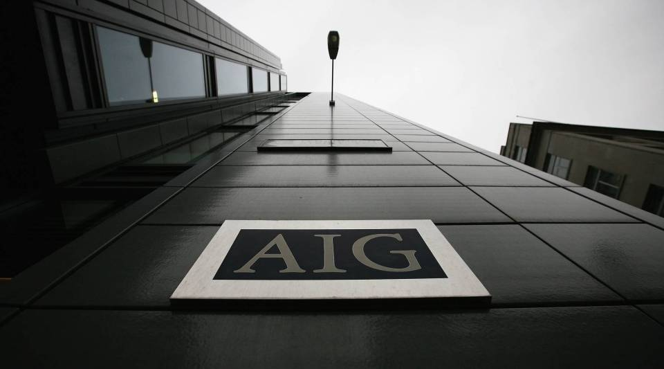 A general view of insurance company AIG on March 26, 2009 in London, England.