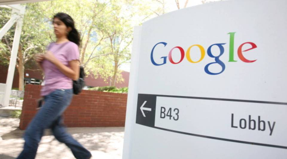 The Google logo is seen at the Google headquarters in Mountain View, Calif.