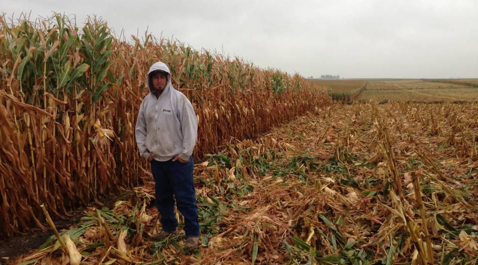 Ben Albright on his farm in Lytton, Iowa.