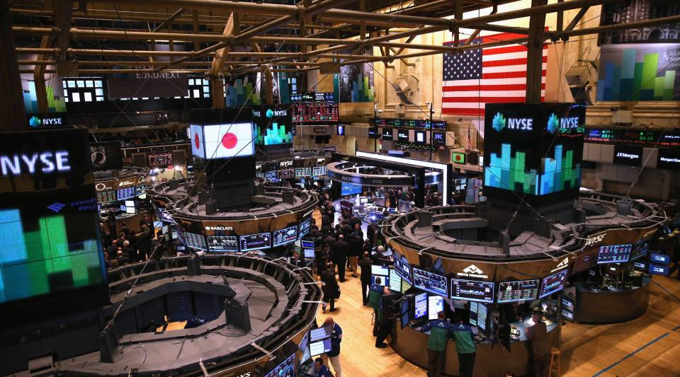 The trading floor of the New York Stock Exchange.