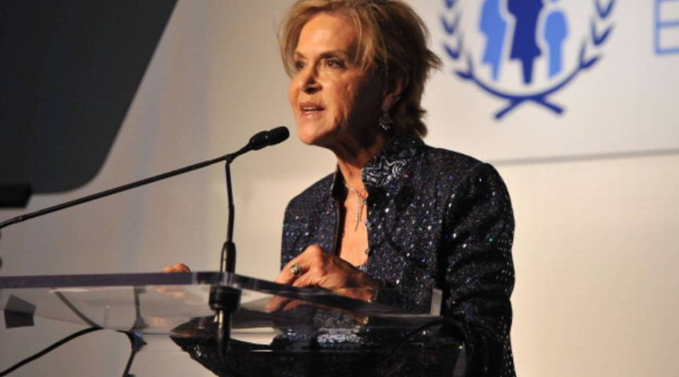 President of The Rockefeller Foundation Judith Rodin speaks onstage at the United Nations Every Woman Every Child Dinner 2012 on September 25, 2012 in New York, United States.