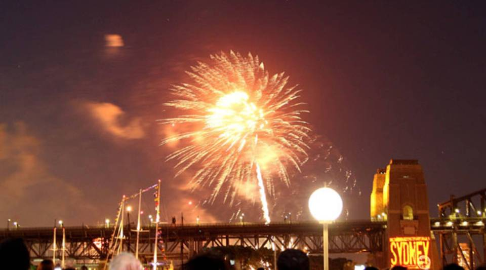 Fireworks light up Sydney Harbour with an early warm up session in preparation for its New Year's Eve celebration.