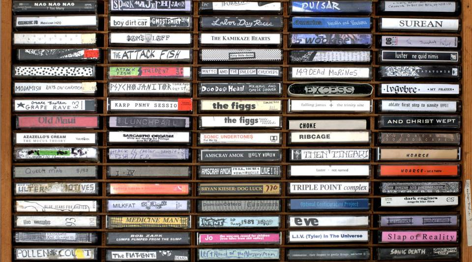 100 Cassette-only releases from the 80's and 90's interned in a wood case