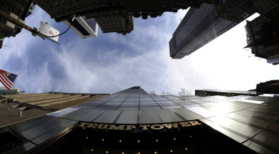 Trump Tower on 5th Avenue in New York.