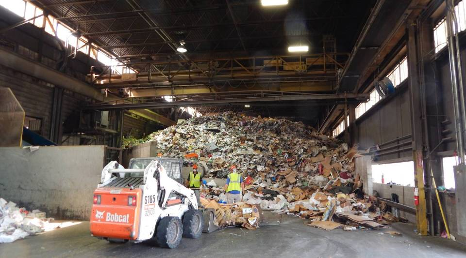 The Rumpke Recycling center in downtown Dayton, Ohio. Rumpke is currently upgrading its facilities for processing single-stream recycling in the area—but says it can't use most paper cups.