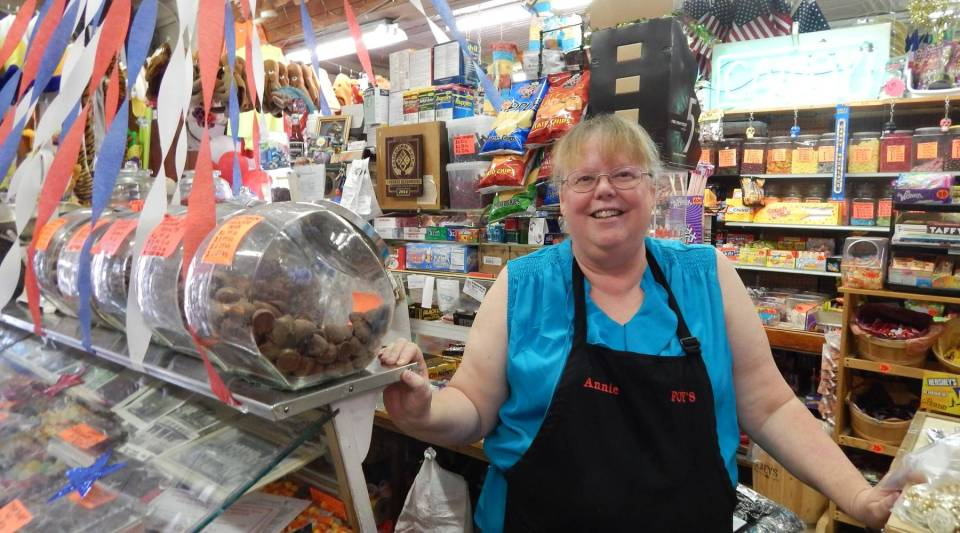 Annie Chapman has worked at Foy's Halloween and Variety in Fairborn, Ohio for ten years. She says she uses her employee discount all the time.
