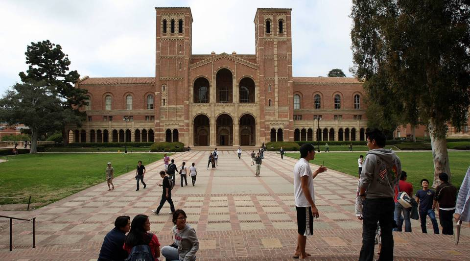Students on the University of California, Los Angeles campus.