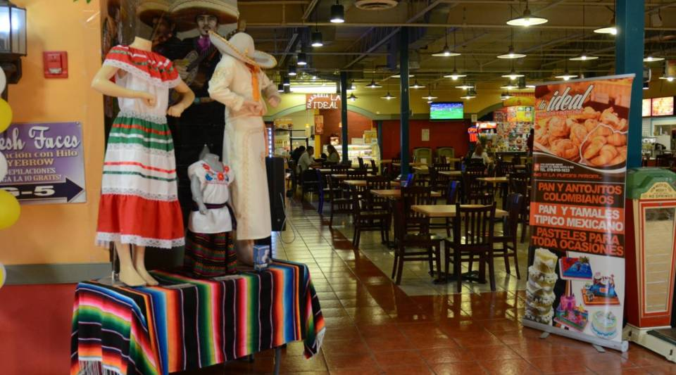 Santa Fe Mall in Duluth, GA, is geared toward Hispanic shoppers. Highlights include a popular food court.