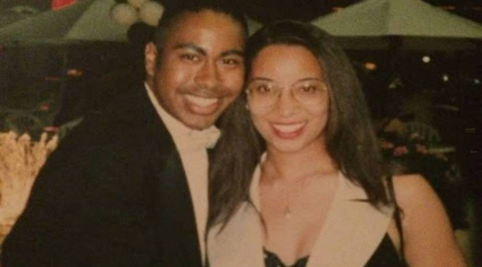 Nicole Childers with her friend Martin Christopher Harper at the prom in San Diego in 1995.