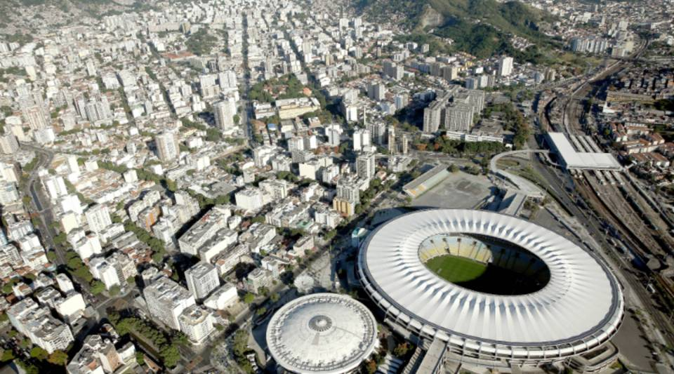 Aerial view of the Maracanã Complex, a Rio 2016 Olympic Games venue.