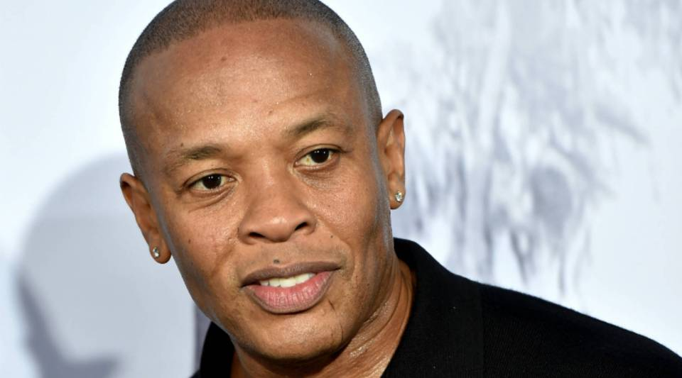 "Dr. Dre arrives at the premiere of ""Straight Outta Compton"" on August 10 in Los Angeles, California."