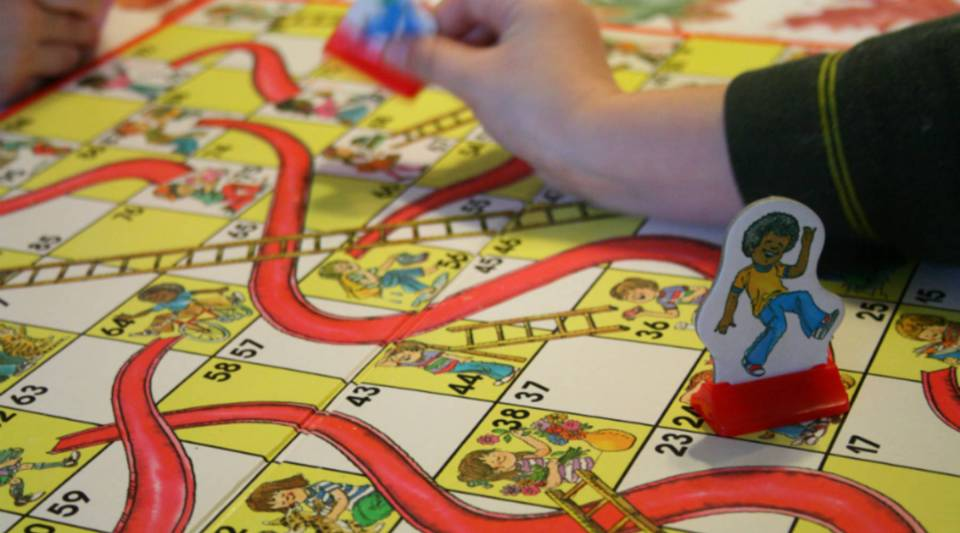 "Think of the yield curve in terms of ""Chutes and Ladders"""
