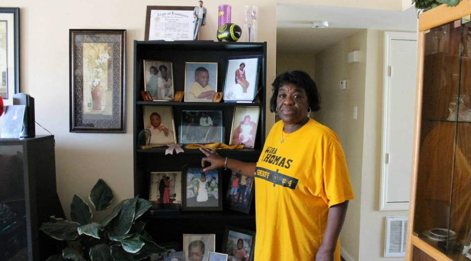 Dianne Morris in her home in New Orleans East.