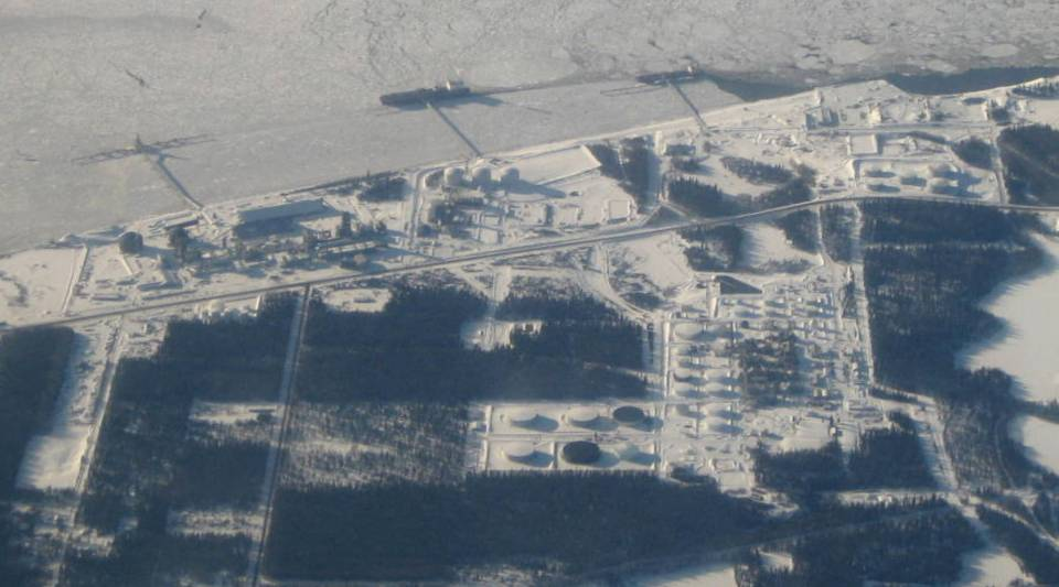 A liquefied natural gas facility in Alaska.