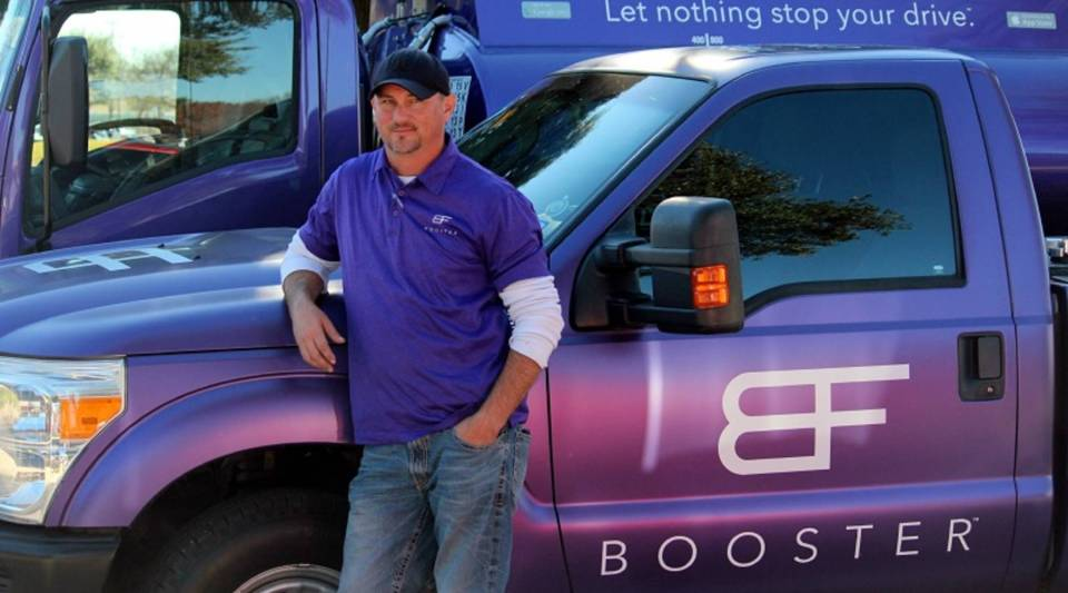 William Rich used to deliver gas to gas stations in Houston. Now, he works for Booster Fuels in Fort Worth, and he thinks on-demand is the future of fueling