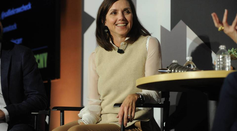 Vice Chair of Business Innovations at General Electric Beth Comstock speaks on stage during 'The Fast Company Innovation Festival' on November 10, 2015 in New York City.