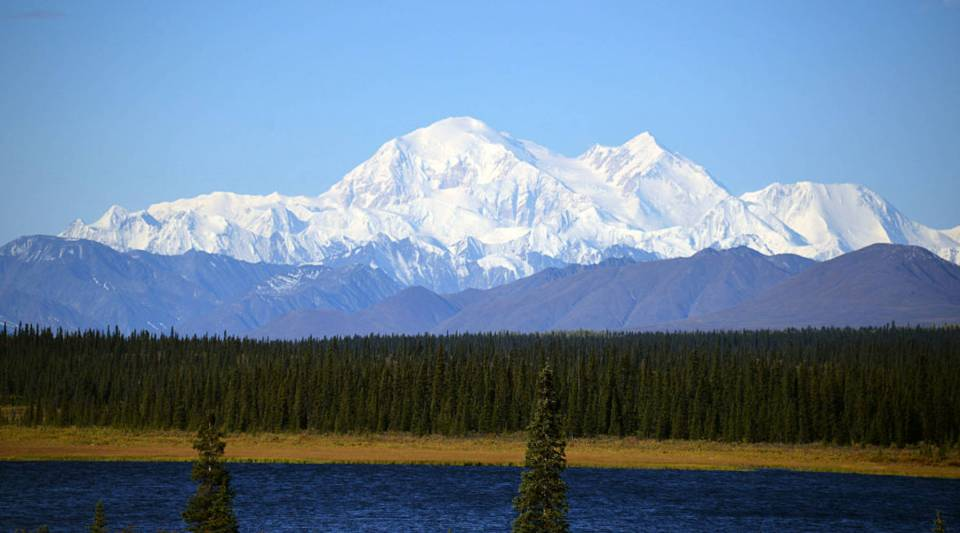 A view of Denali, formerly known as Mt. McKinley, on September 1, 2015 in Denali National Park, Alaska.