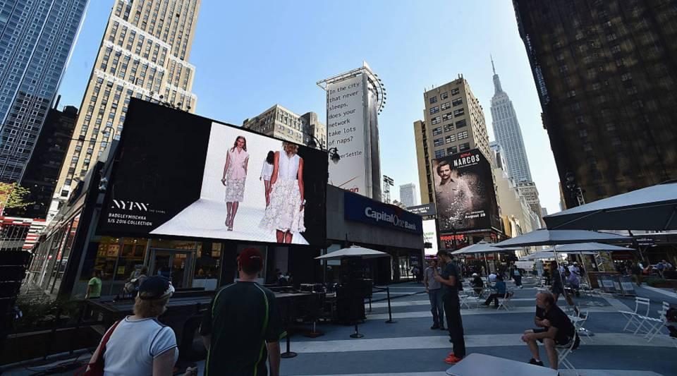 A view outside of last season's New York Fashion Week.