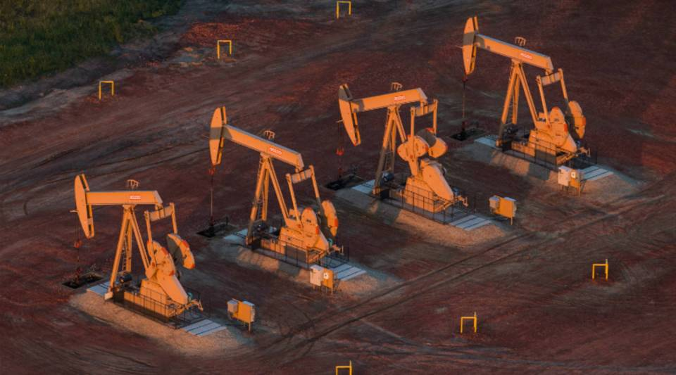 Pumpjacks near Watford City, North Dakota. States like North Dakota and Alaska that boomed when oil prices were high are now hurting.