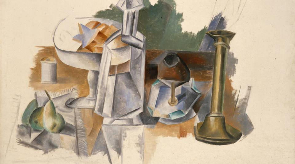 "The artwork ""Carafe and Candlestick"" from Pablo Picasso, which will be in the Metropolitan Museum of Art's ""Unfinished: Thoughts Left Visible"" exhibition."