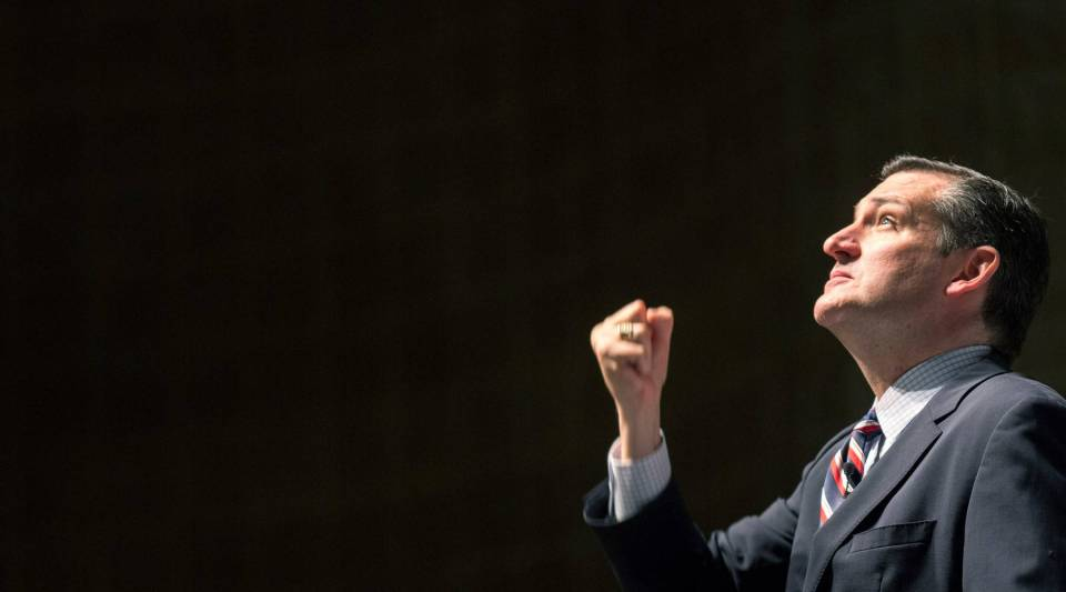 Republican presidential candidate U.S. Sen. Ted Cruz, who is one of the top recipients of hedge-fund campaign dollars.