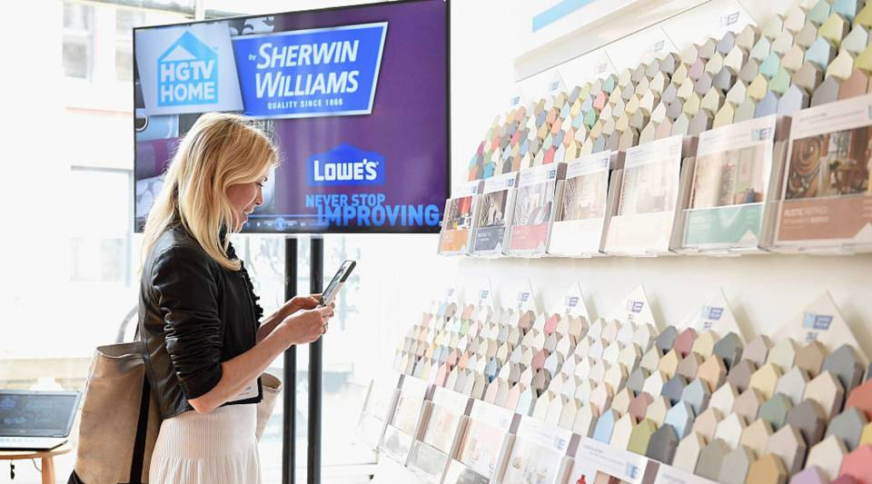 A guest attends the HGTV HOME by Sherwin-Williams and Lowe's event.