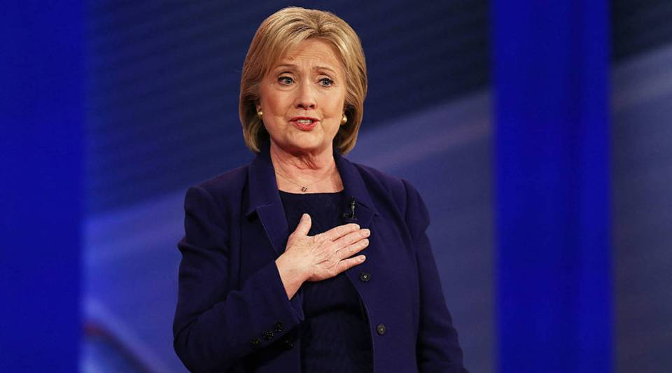 Democratic Presidential candidate Hillary Clinton speaks during a Democratic Presidential Town Hall at on Feb. 3.