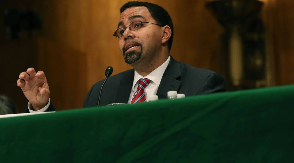 Dr. John King, speaks during his Senate confirmation hearing to become Education secretary, on Capitol Hill, February 25, 2016 in Washington, DC.