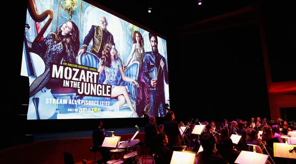 A general view of atmosphere at the red carpet premiere screening of Amazon's Original Series 'Mozart in the Jungle.'