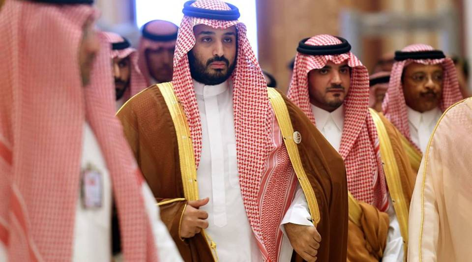 Saudi Prince Mohammed bin Salman, second from left, wants to find new revenue streams for his kingdom.