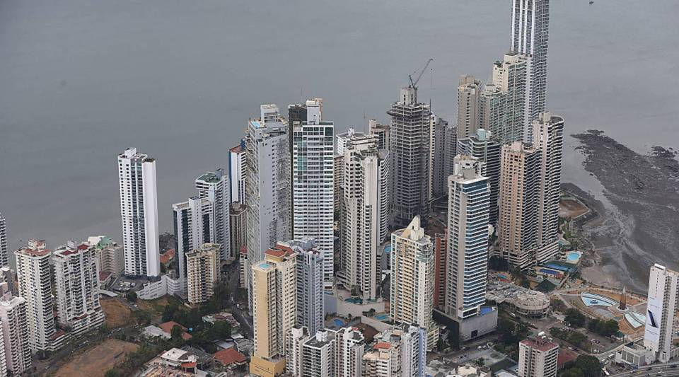 Part of the Panama City skyline is seen as revelations about the law firm Mossack Fonseca & Co continue to play out around the world on April 7, 2016 in Panama City, Panama.
