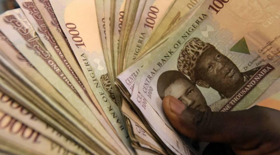 Naira banknotes, Nigeria's currency.