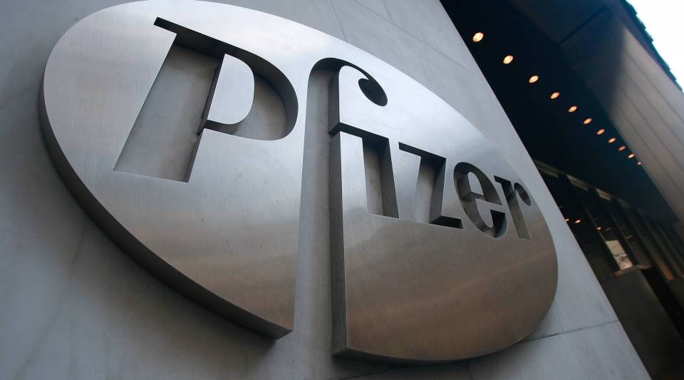 The outside of Pfizer's headquarters.