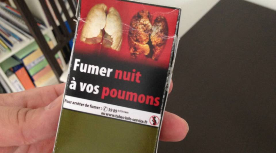 A French cigarette package.