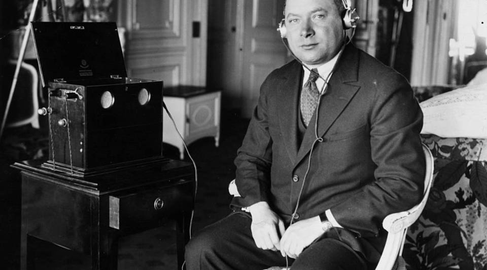 David Sarnoff (1891 - 1971), general manager of the Radio Corporation of America (RCA).