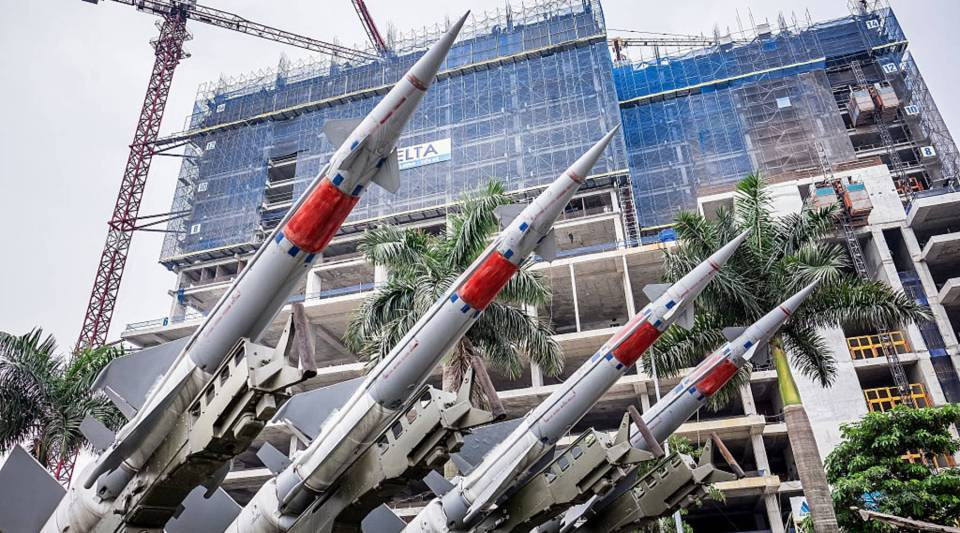 Models of missiles at the Vietnam People's Air Force Museum on May 23 in Hanoi, Vietnam. U.S. President Barack Obama announced the U.S. is fully lifting its embargo on sales of lethal weapons to Vietnam.