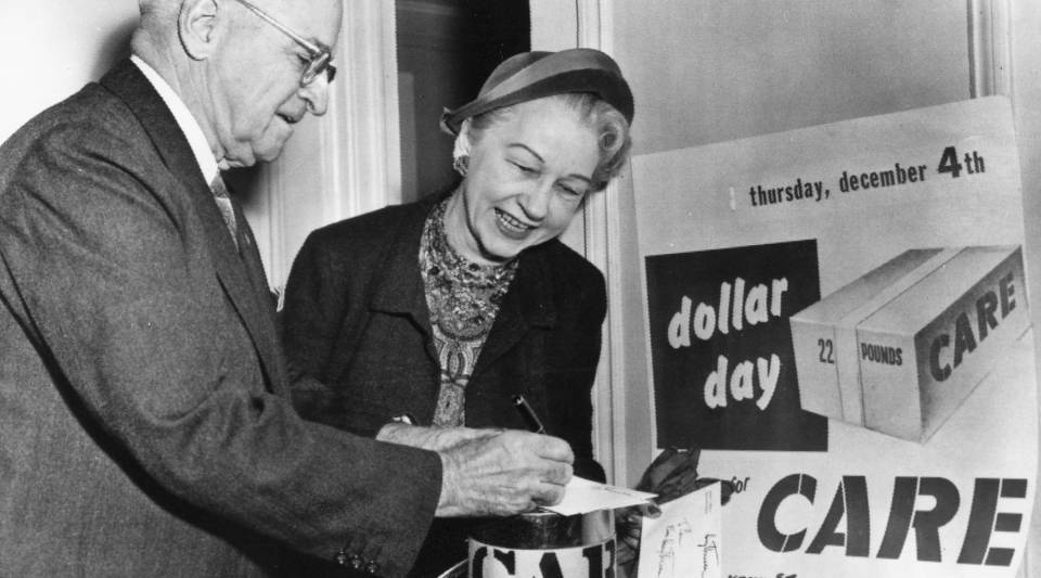 President Harry S. Truman became one of the organization's first donors when he purchased 100 CARE packages for Europe in May 1946.
