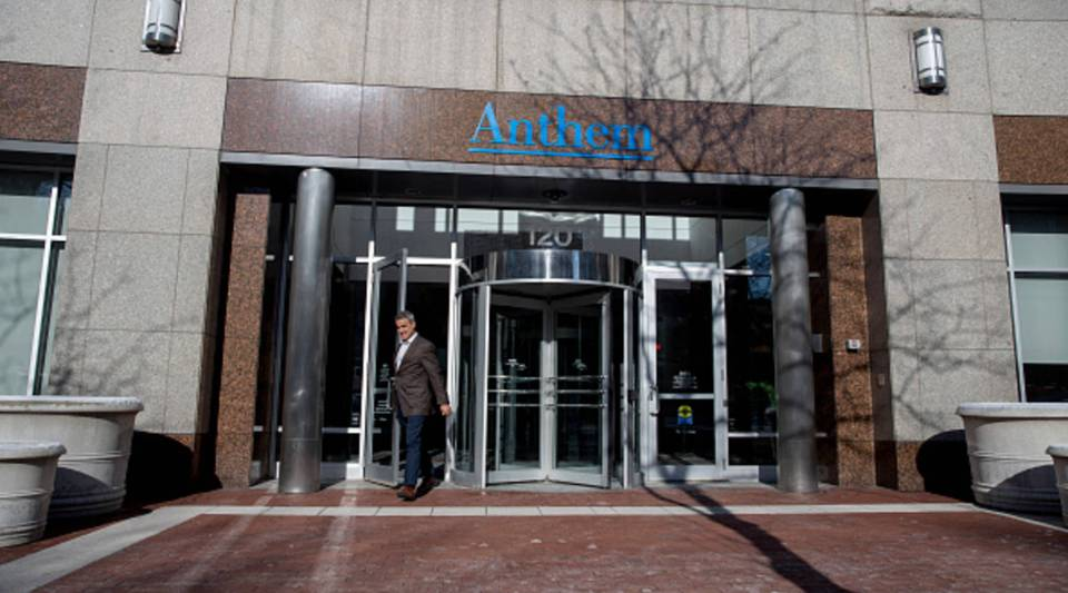 Anthem Health Insurance headquarters in Indianapolis. The health insurer is reportedly nearing a deal to purchase Cigna.