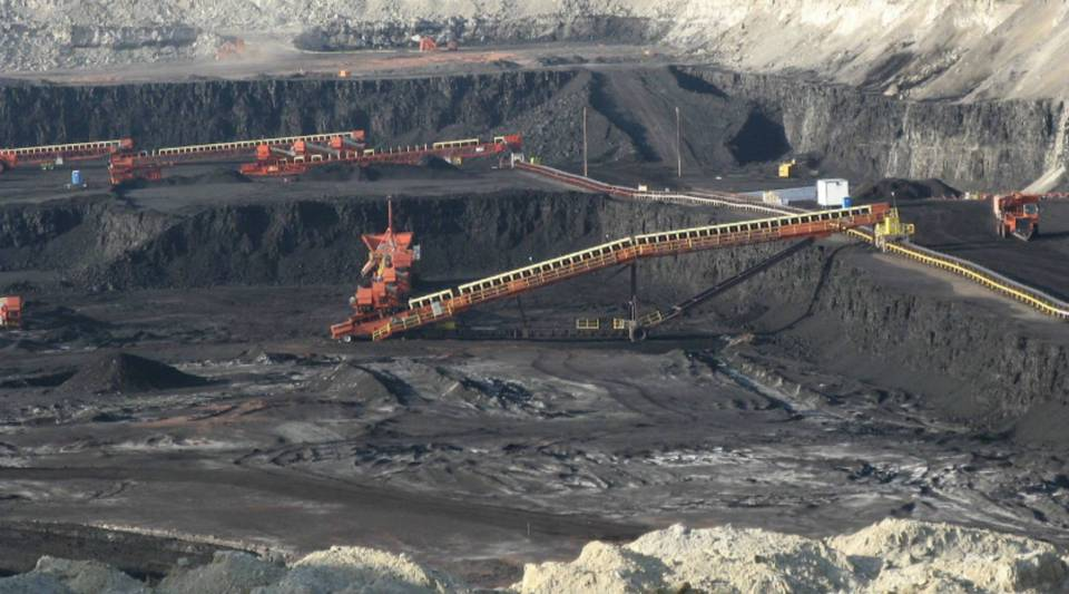 A large surface coal mine near Gillette, Wyoming.