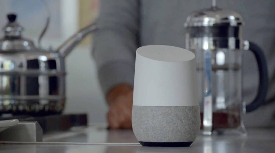 A still from Google's demo video for Google Home.