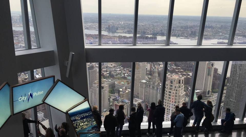 A view of the new World Trade Center.