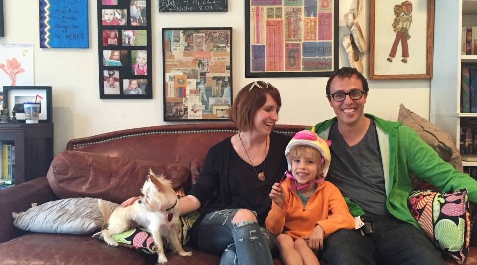 Aaron and Mary Murray live with their five-year-old daughter Vandy and their dog Murphy in Los Angeles.