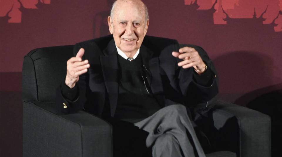 Actor Carl Reiner speaks onstage during the TCM Classic Film Festival in Los Angeles, California.