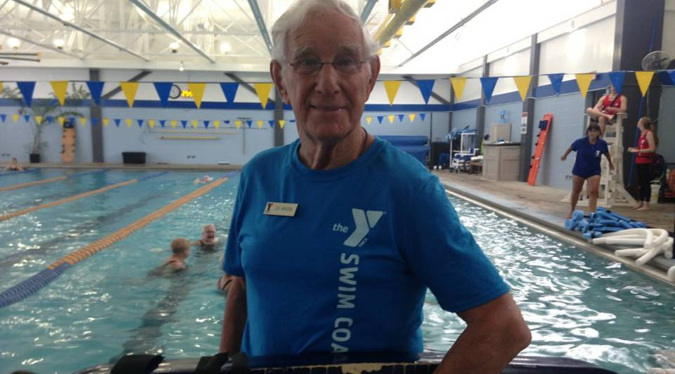 At 85, Ed Myers is now a lifeguard instructor at the YMCA in Austin, Texas.